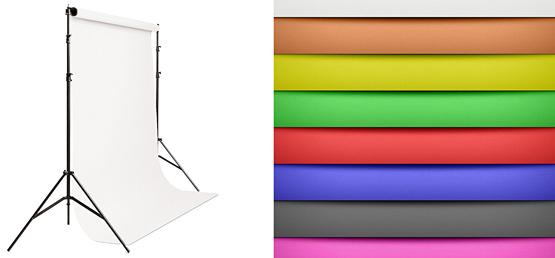 цветные бумажные фоны для студии