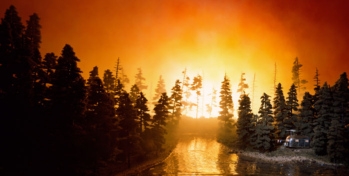 California Forest Fire, 2002. Проект: Lost