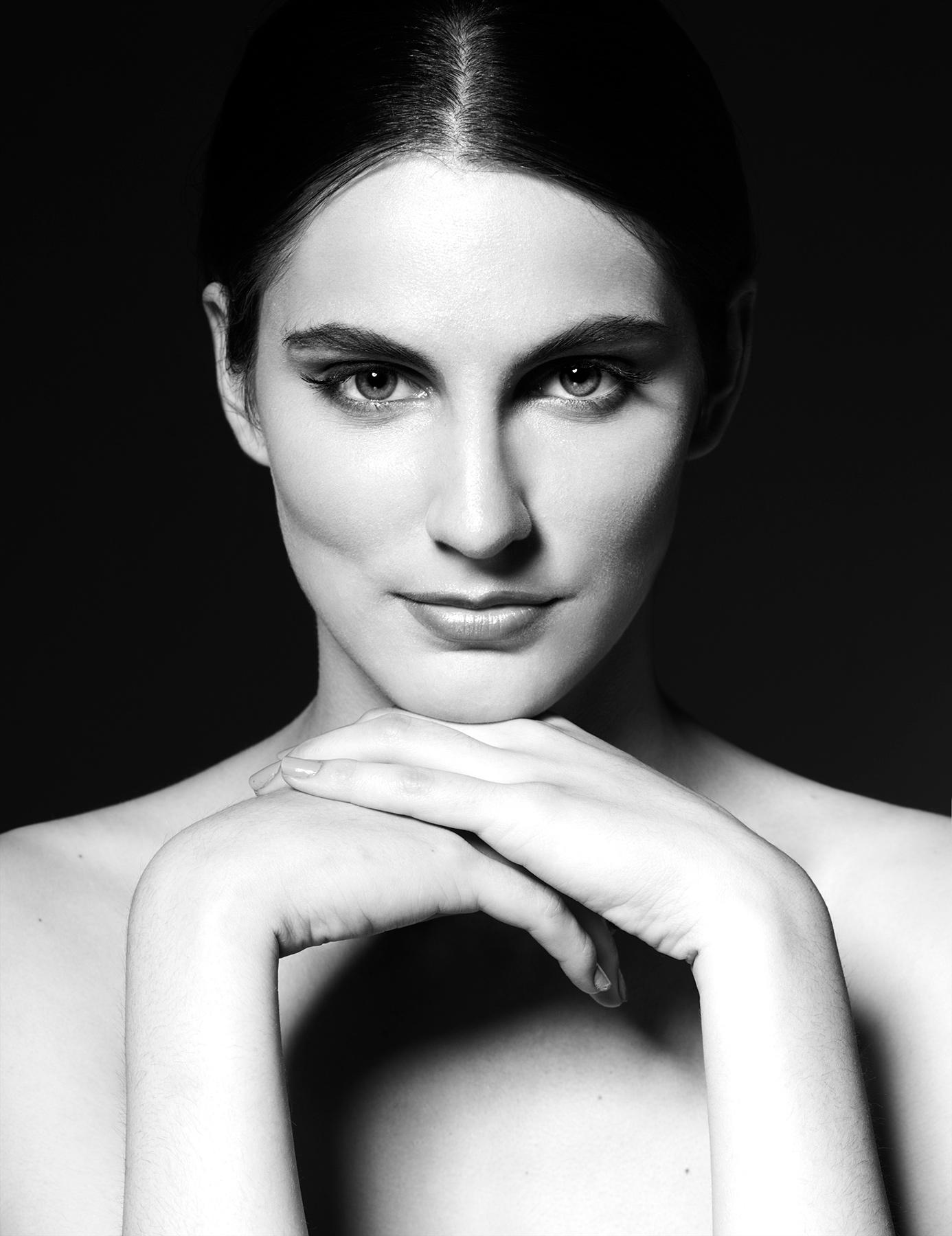 Черно-белый портрет. Анна (FC Models), фотограф: Александр Сакулин
