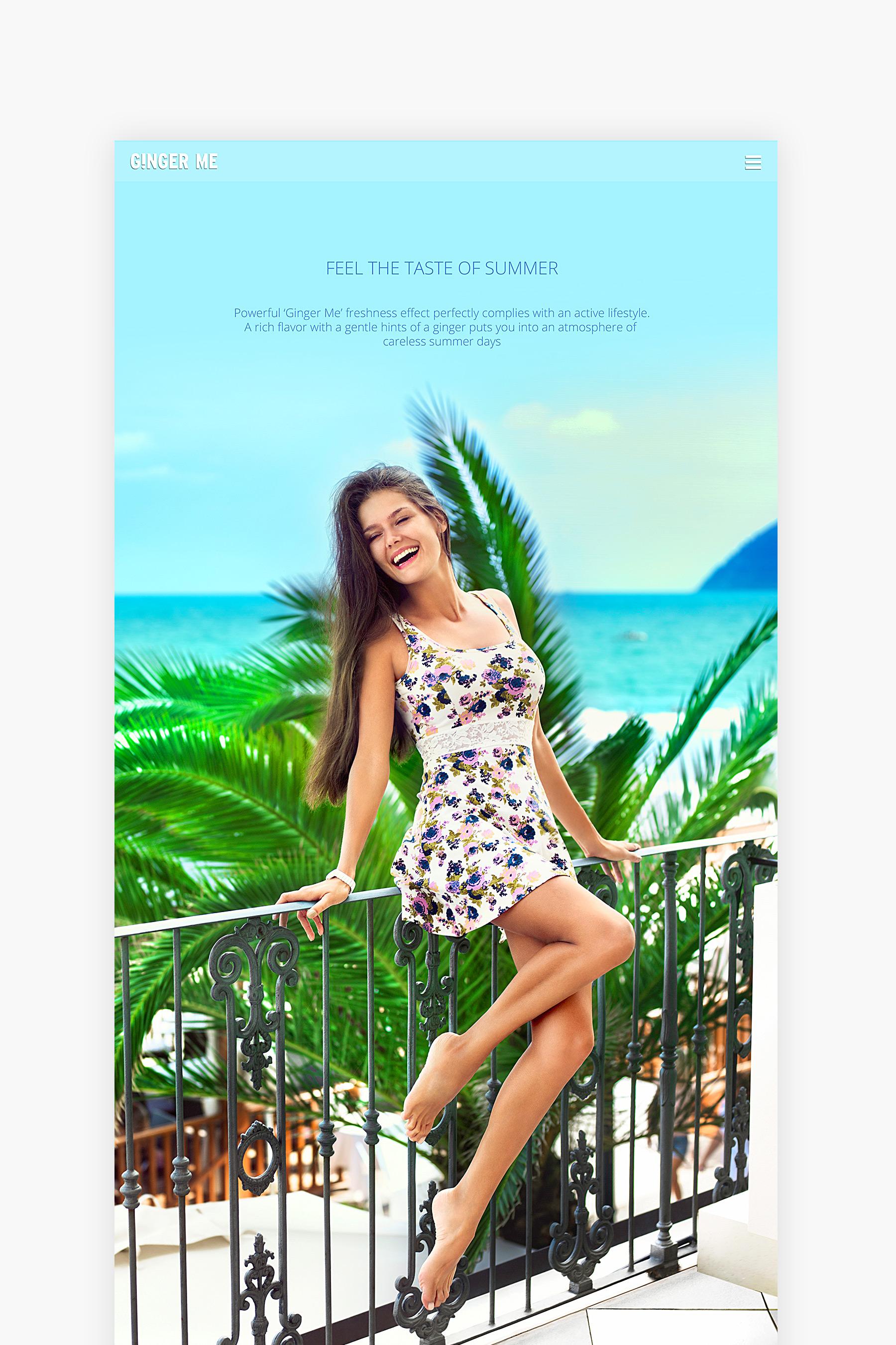 Ginger Me website presentation - Beach story