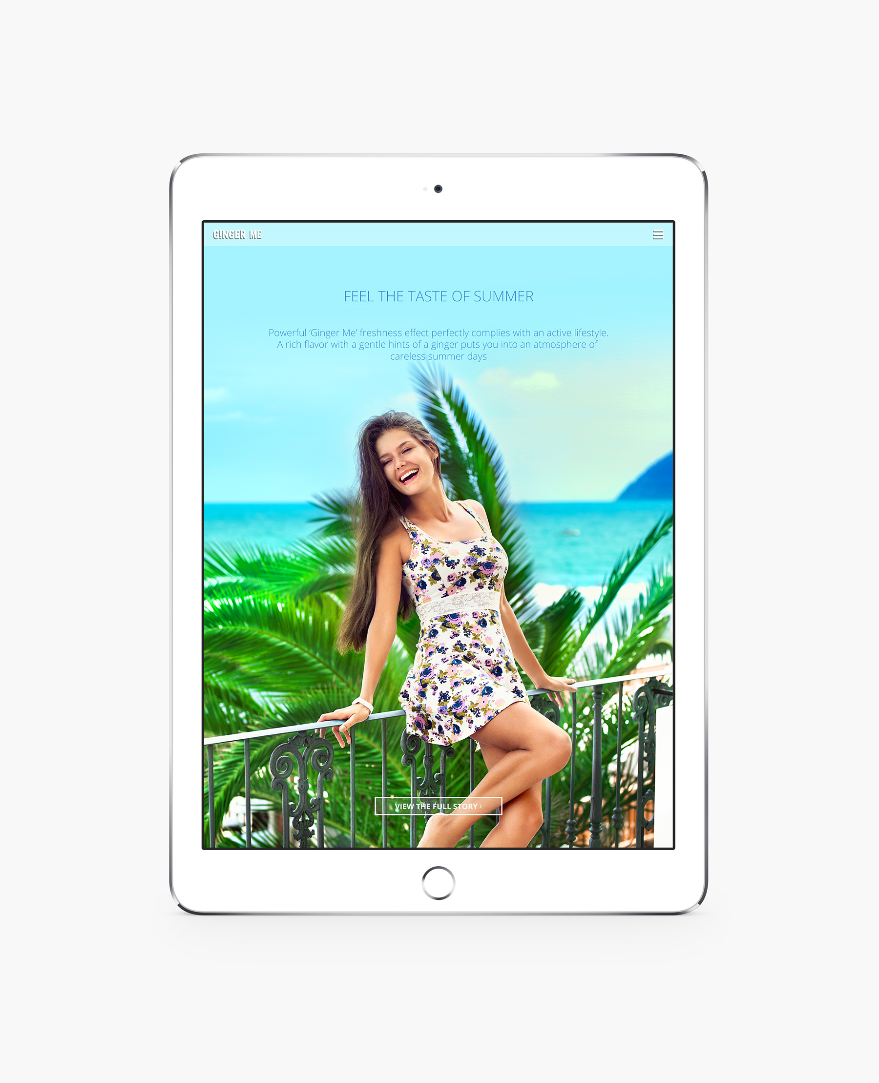Ginger Me website presentation - Beach story cover