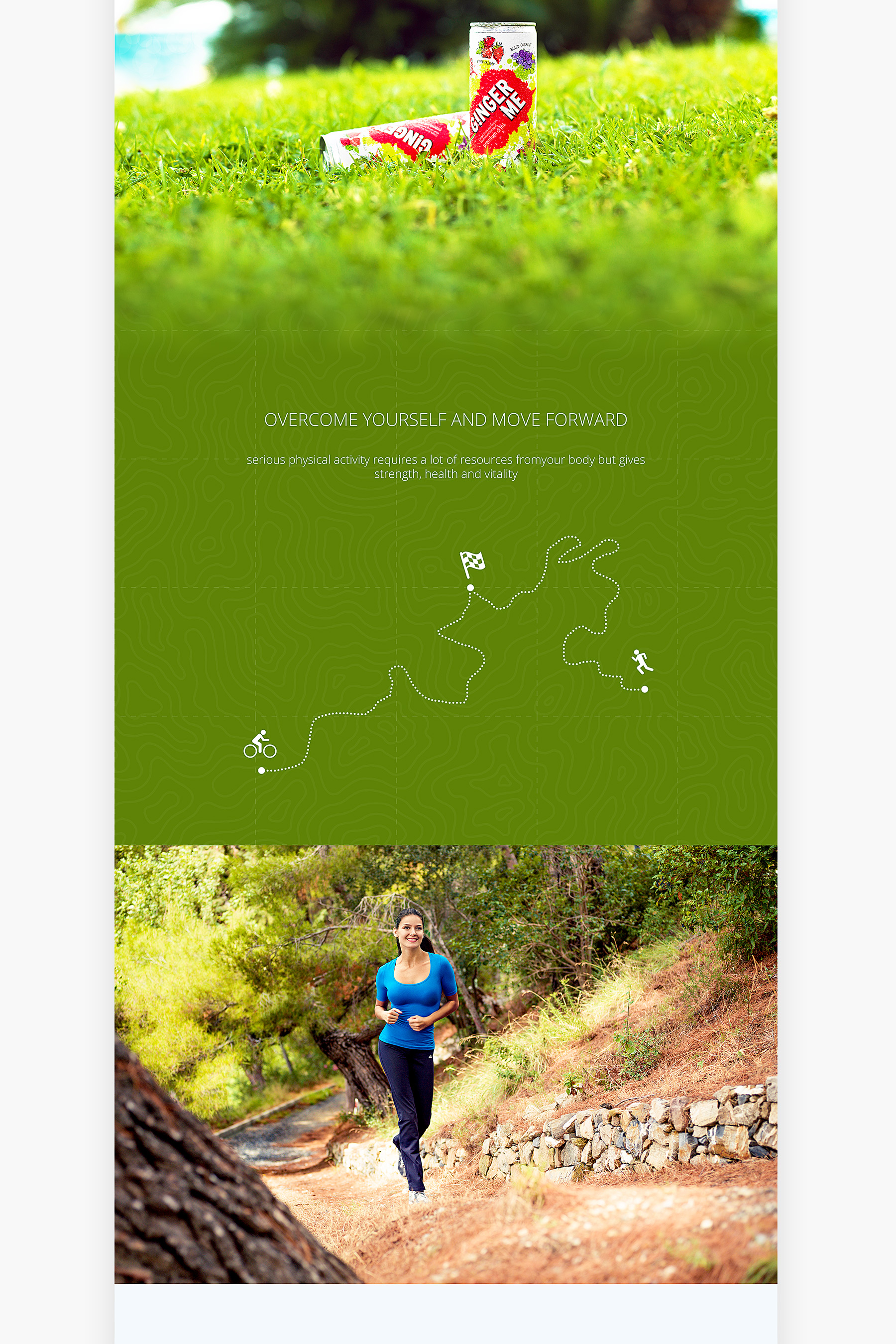 Ginger Me website presentation - Sport story